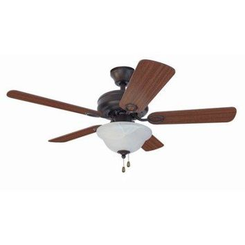 "Chapter 42"" Single Light French Bronze Ceiling Fan"