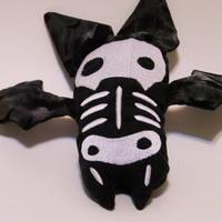 Goth Skelly Bat Plushie,Bat Skeleton Plushie,Bat skeleton Plushy,Bat Skeleton Stuffed Animal