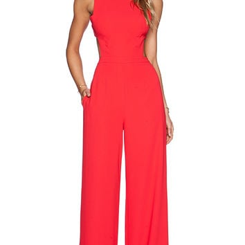 BCBGMAXAZRIA Rosanna Jumpsuit in Red