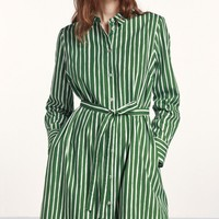 Trina 2 Piccolo dress - green, off-white - Marimekko.com