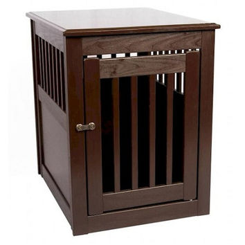End Table Pet Crate - Large/Mahogany