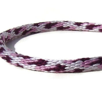 NEW-- purple wavy pattern friendship kumihimo bracelet with or without purchased magnetic clasp-- your choice