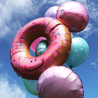 Jumbo Balloon /Baby Shower/  Pink  / Sprinkled Glazed Doughnut  / Giant Balloon/ Party / Foil Balloon / Party supplies / Birthday Party