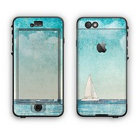 The Faded WaterColor Sail Boat Apple iPhone 6 Plus LifeProof Nuud Case Skin Set