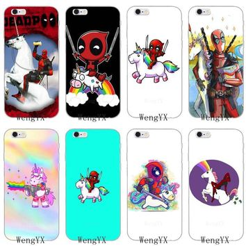 Deadpool Dead pool Taco funny cartoon  Unicorns Slim silicone Soft phone case For LG G2 G3 mini spirit G4 G5 G6 K7 K8 K10 2017 V10 V20 V30 AT_70_6