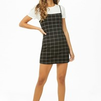 Plaid Mini Cami Dress