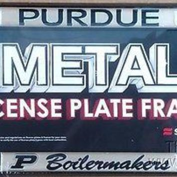 Purdue Boilermakers SD Deluxe BLACK Metal License Plate Frame Cover University