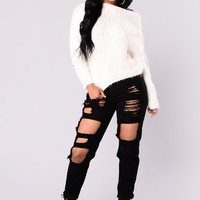 Bad To The Bone Boyfriend Jeans - Black