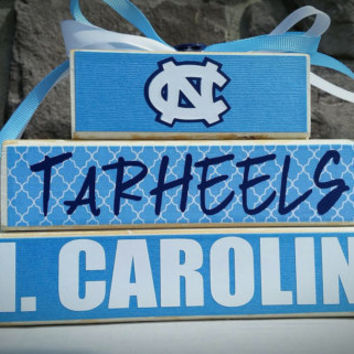 Custom College and Pro Sports Team North Carolina Tarheels Fan Stacker (UNC)