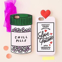 Luxury Fashion 3D Love Potion Chill Pills Bottle Silicone Cover Case For iPhone 5/5s/SE/6/6s/ 6 plus/ 6s plus Phone Case Shell