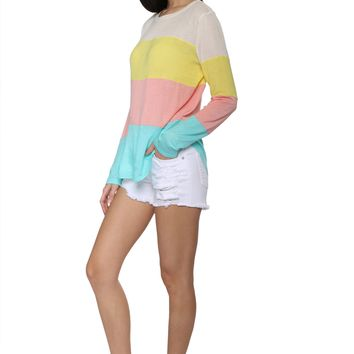 Sunday Stevens Beach Day Color Block Top