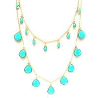 Pree Brulee - La Peregrina Turquoise Necklace