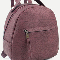 Pebbled Faux Leather Dome Backpack