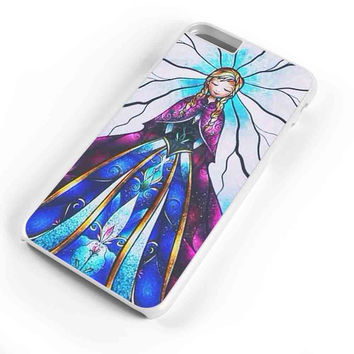 Disney Frozen Elsa Anda Stained Glass Couple Left iPhone 6s Plus Case iPhone 6s Case iPhone 6 Plus Case iPhone 6 Case