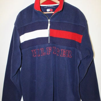 TOMMY FLEECE PULLOVER // size mens med // from GUTTERSHOP on Etsy
