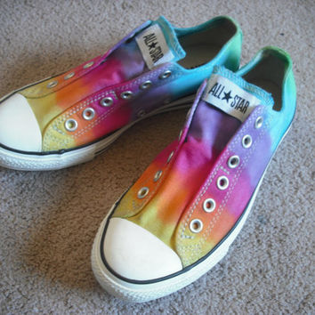 Tie dye Converse All Star Slips