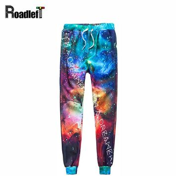 Men & Women fashion emoji joggers skinny pants Mens Space Stars Nebula 3D Print casual sweatpants hip hop harem pants trousers