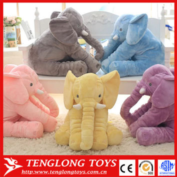60cm 5colors elephant plush toy stuffed kids toy big size animal doll kids sleep pillow baby calm doll Christmas gift