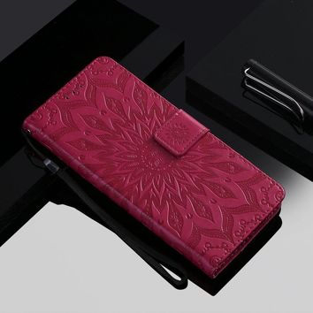 Datura Flower Leather Cases For iPhone Touch 6 5 X XS Max 6S 5S SE 2 XR 7 8 Plus 6+ 7+ 8+ Magnetic Luxury Frame Card Slot D06Z
