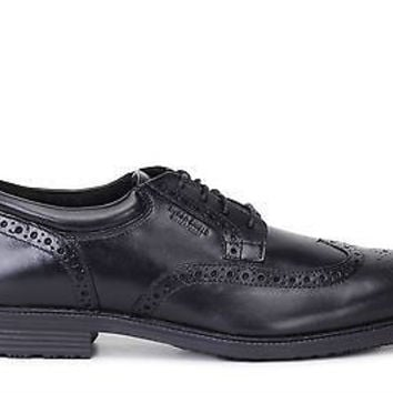Rockport Mens Essential Details Waterproof Wing Tip Shoes Black V73842
