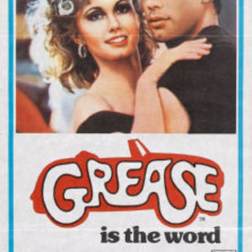 Grease Insert Movie Poster 14x36