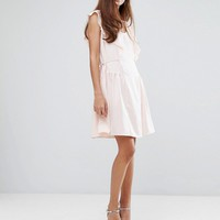French Connection Nia Drape Capped Sleeve Mini Dress at asos.com