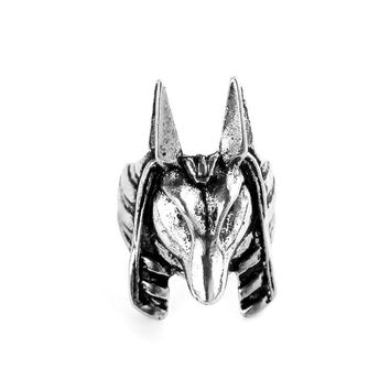 Cool The Kaen Chronicles Anubis ring for men Fashion Jewelry Antique Silverl Platied Old Egypt God Style