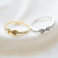 infinity ring,eternity ring,sister tiny infinity ring,infinity jewelry Z011