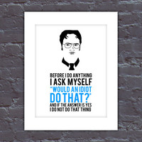 The Office Poster, Dwight Quote Poster, The Office TV Show Poster, Digital Dwight Poster, Dwight Digital Art, Dwight Shrute Poster