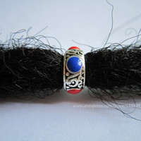 Free Shipping 6Pcs/Lot thickness hair dread dreadlock beads cuffs clips approx 7mm hole