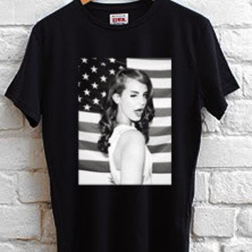 lana del rey american flag T-shirt men, women and youth