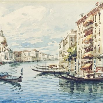 Grand Canal Venice Italy Watercolor Painting
