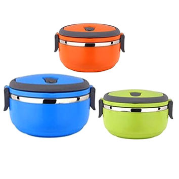 Portable 2016 New Style Modern Stainless Steel Thermos Bento Lunch Box for Kids Food Container Food Box Lunchbox