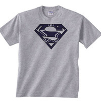 Custom Dallas Cowboys Football Superman Tee Tshirt T-Shirt