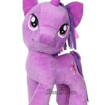 "Licensed cool NEW 20"" JUMBO Twilight Sparkle BIG GIANT My Little Pony Plush Stuffed Toy Horse"