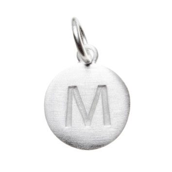 Matte Silver Letter M Initial Charm by Altruette - Room to Read