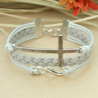 Fashion infinity Bracelet-Infinity Cross bracelet-Cross bracelet-Gift for your friend