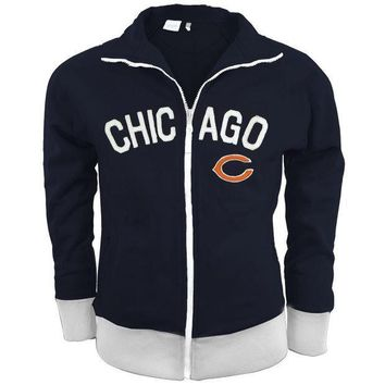 PEAPGQ9 Chicago Bears - Tennis Premium Juniors Stretch Track Jacket