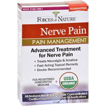 Forces of Nature Organic Nerve Pain Management  11 ml