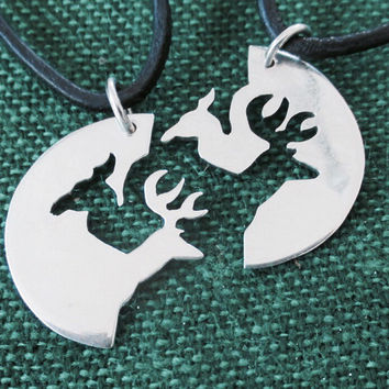 Buck and Doe Fine Silver And Leather Adjustable Necklace