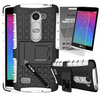 [LG Leon LTE] [LG Tribute 2] [LG Risio] [LG Power] [LG Destiny] Grenade Combat Case by ElBolt - White with Free HD Screen Protector