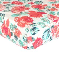 Fitted Crib Sheets | Flowered Engrams