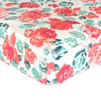 Fitted Crib Sheets   Flowered Engrams