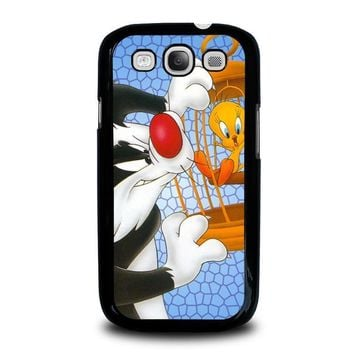 sylvester and tweety looney tunes samsung galaxy s3 case cover  number 1