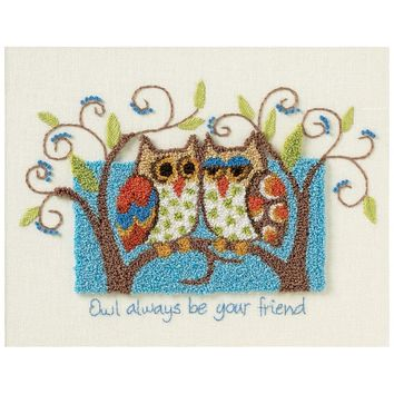 "Owl Always Be Your Friend Dimensions Punch Needle Kit 10""X8"""