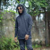 Rudimental Paneled Terry Hoodie Black