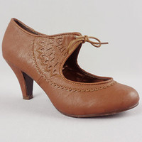 Angels and Arsenic Brown Heels   PLASTICLAND
