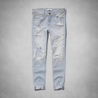 A&F Allie Low Rise Boyfriend Jeans