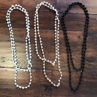 Pearl Long Bead Necklaces
