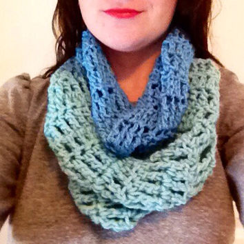 Crochet Infinity Scarf Women's Scarf Thick Infinity Scarf Crochet Scarf Teal Scarf Chunky Scarf Green Scarf
